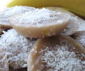 วิธีทำขนมเผือกหน้ามะพร้าว